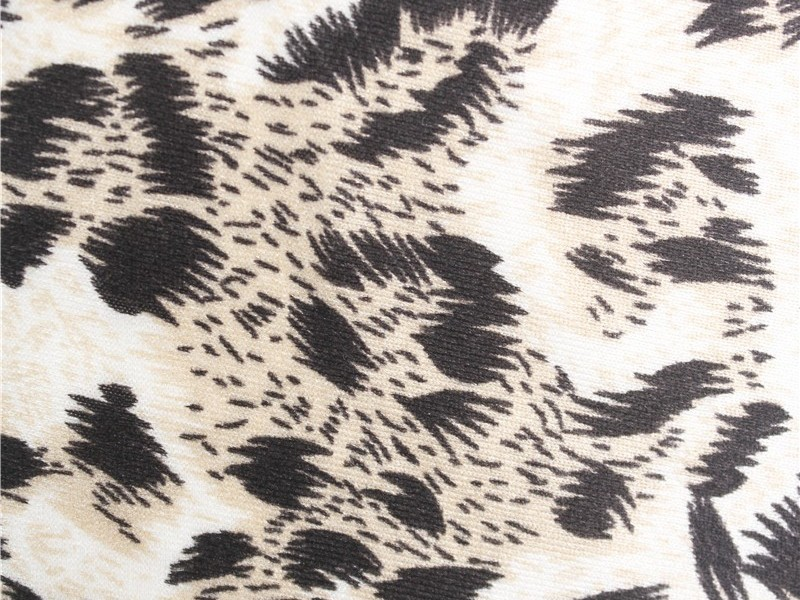 豹纹印花色丁布