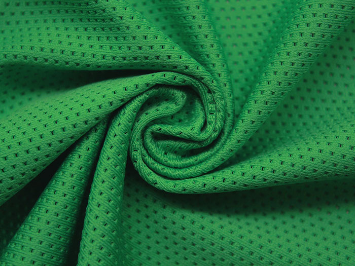 鸟眼涤纶弹力透气速干网眼布 运动服里料网布 针织面料