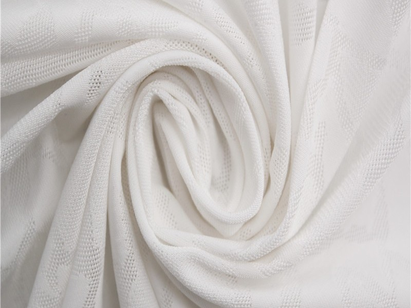 涤纶针织四面弹力提花面料 针织提花面料厂家 内衣女装罩衫针织面料