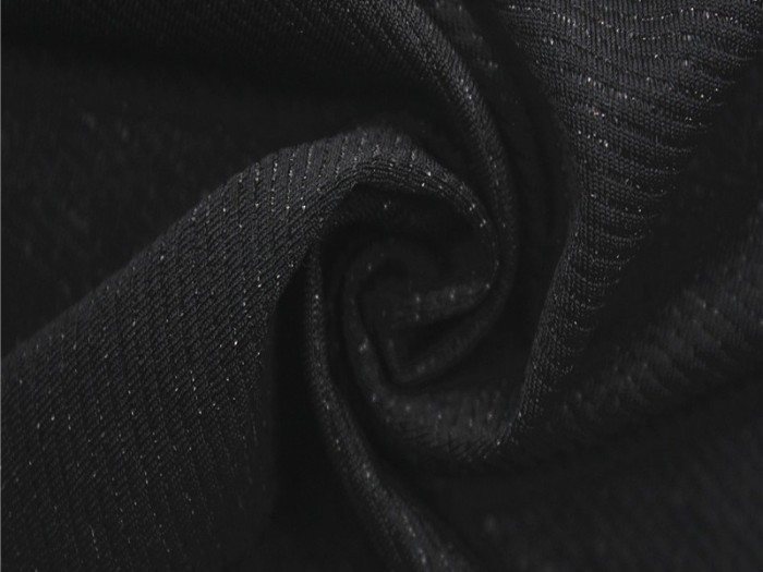 针织锦纶弹力银丝针织单面布  针织纬编银丝汗布 针织面料厂家
