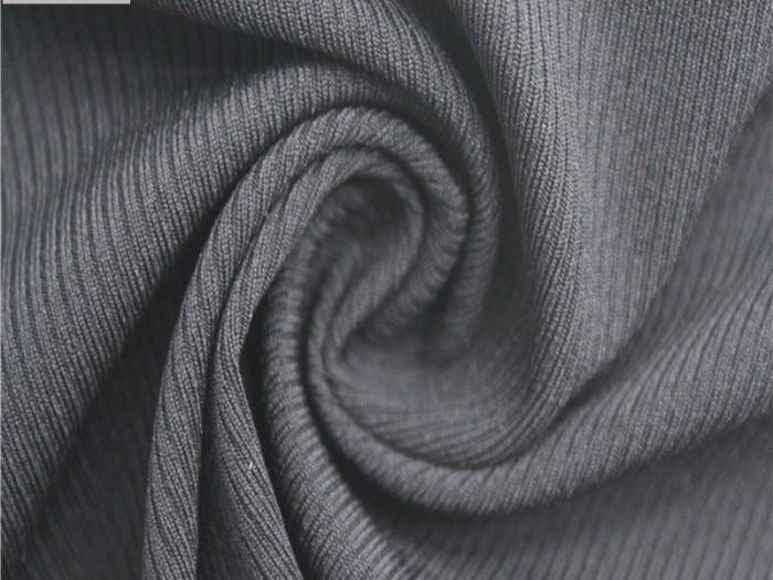 涤纶弹力针织罗纹布 针织弹力面料厂家