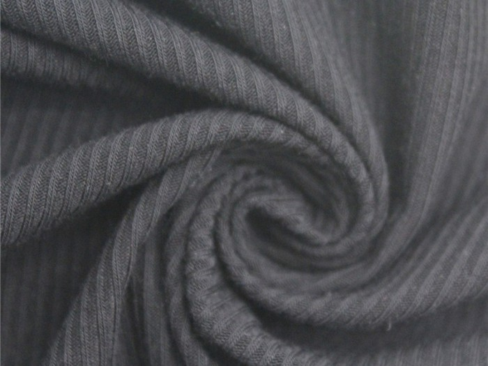 人棉弹力针织罗纹布 江苏针织面料厂家