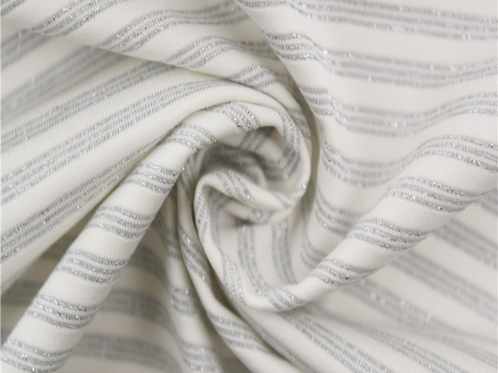 针织尼龙加银丝单面汗布 针织单面布生产厂家  运动面料生产厂