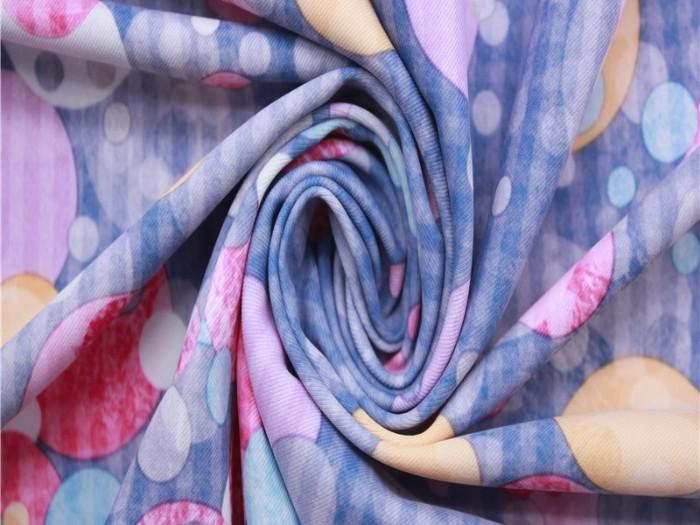 针织双面布生产厂家 印花针织双面汗布