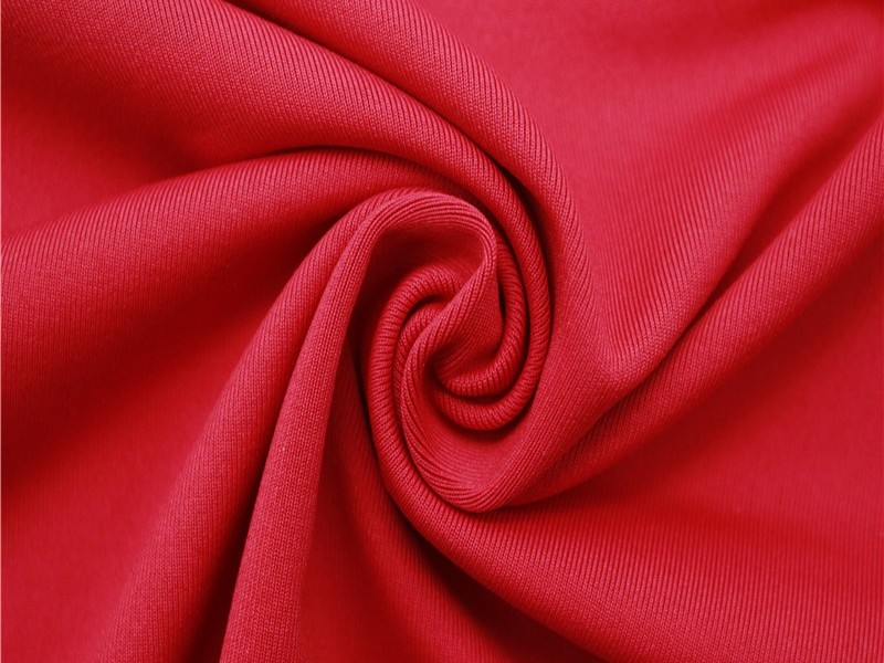 运动服布料 针织涤氨汗布四面弹面料厂家