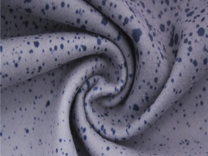 秋冬针织面料  四面弹单面汗布  针织印花布料