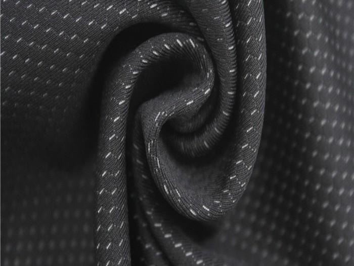 运动休闲服针织面料厂家 涤纶四面弹针织单面汗布