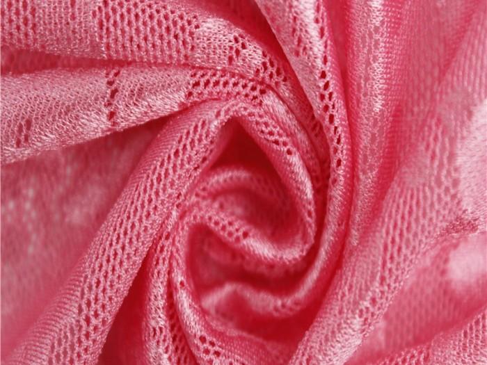 针织弹力提花网眼布