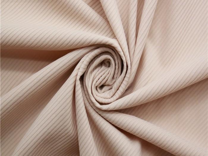 锦氨弹力针织罗纹布 细条纹T恤 家居服针织面料 常州厂家定制