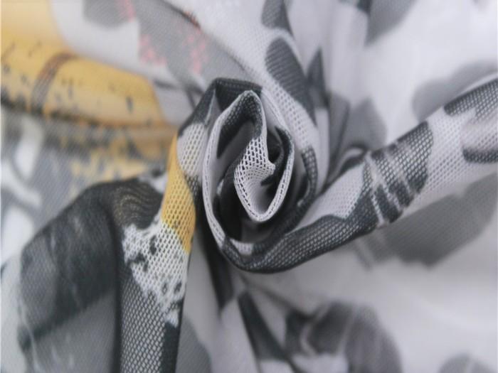 涤纶弹力印花针织网布 针织弹力网布厂家