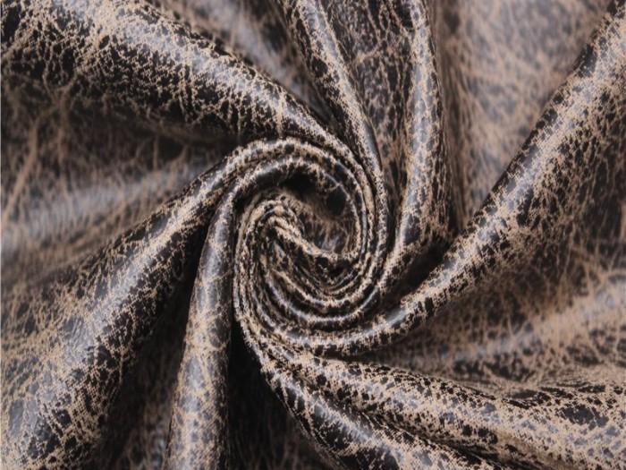 皮革针织面料 复合针织烫金布厂家