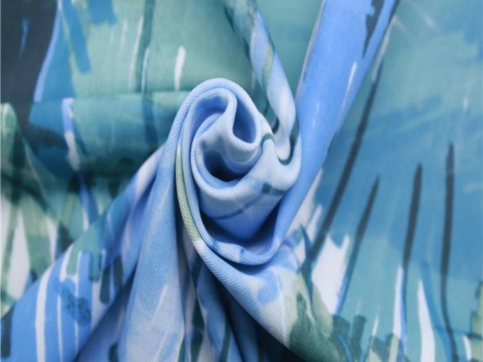 数码印花涤伦四面弹力针织双面布 针织布生产厂家