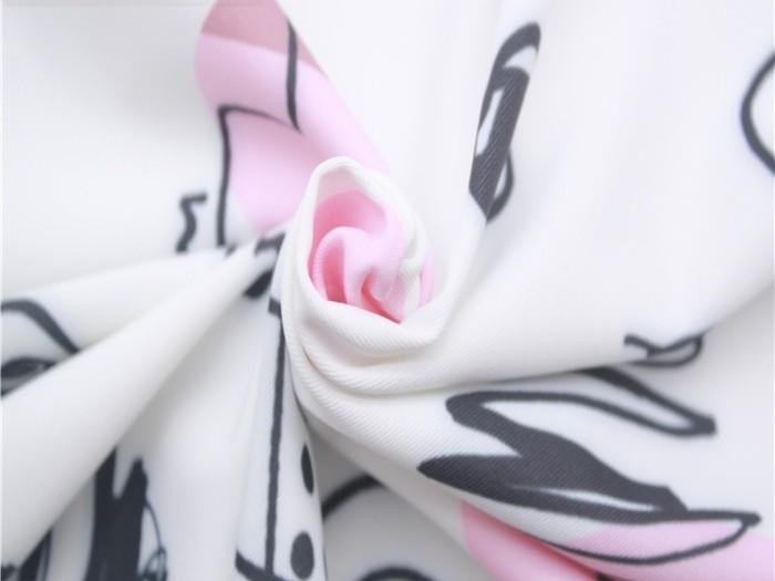 柔软手感涤氨印花双面针织汗布 双面针织布