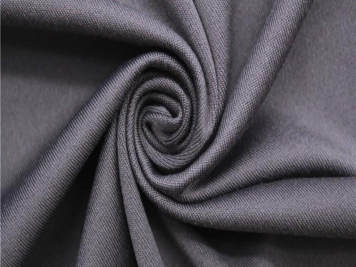 涤纶弹力磨毛针织单面汗布 运动T恤休闲服针织面料