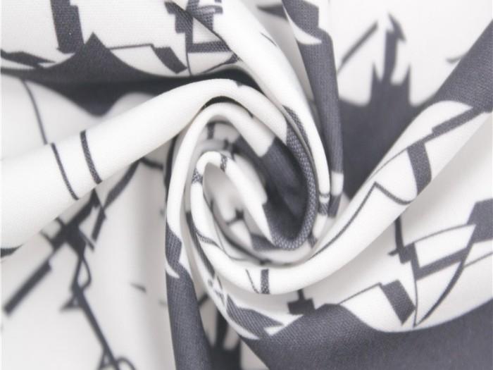 牛奶丝弹力印花面料 针织弹力布厂家