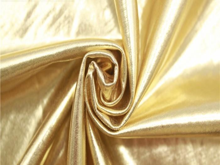 满幅烫金泳衣布 四面弹力面料
