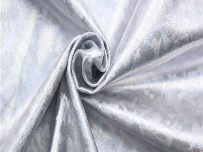 满幅烫银锦氨经编泳衣布
