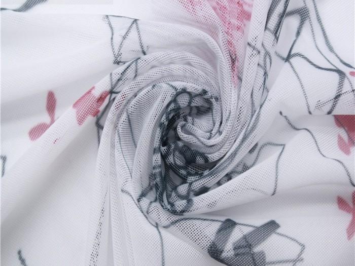 经编弹力网眼布 针织印花面料厂家