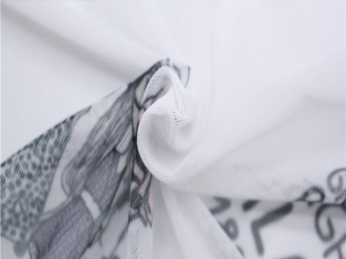 针织涤纶弹力网眼布 涤纶网眼布厂家