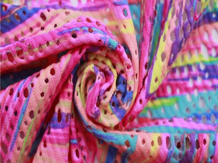 江苏针织弹力网布厂家  尼龙弹力针织提花网布