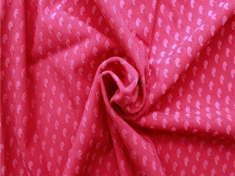 针织立体高档心型提花锦氨面料 针织提花布