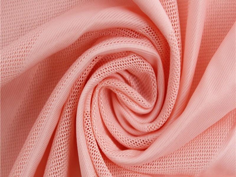 涤纶针织弹力提花网眼布 运动服辅料针织面料