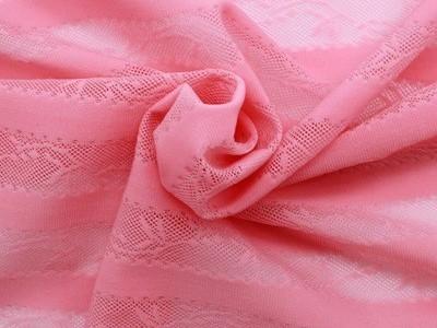 横条提花弹力网眼布 锦氨弹力网布 针织提花网布