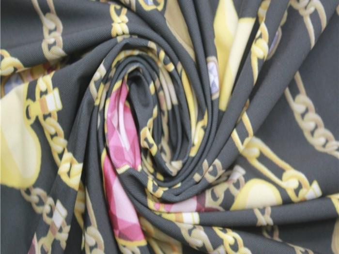 泛馨针织面料定制 数码印花涤伦弹力单面汗布