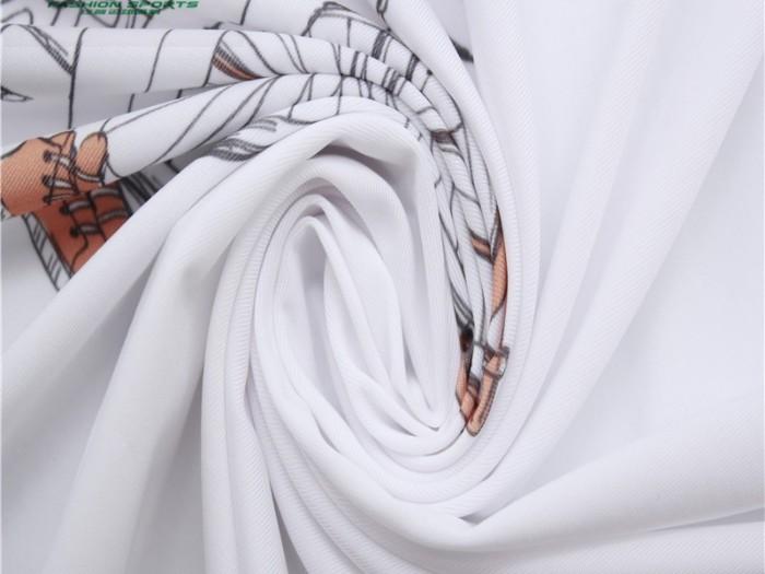 针织面料厂家定制 印花涤纶弹力单面汗布