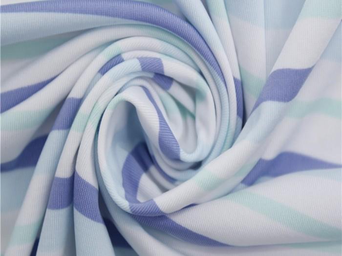 数码印花针织内衣面料 涤纶四面弹力针织面料厂家  针织面料生产厂