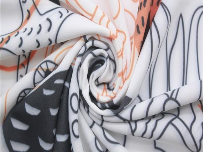 涤纶弹力印花针织布 针织双面布厂家
