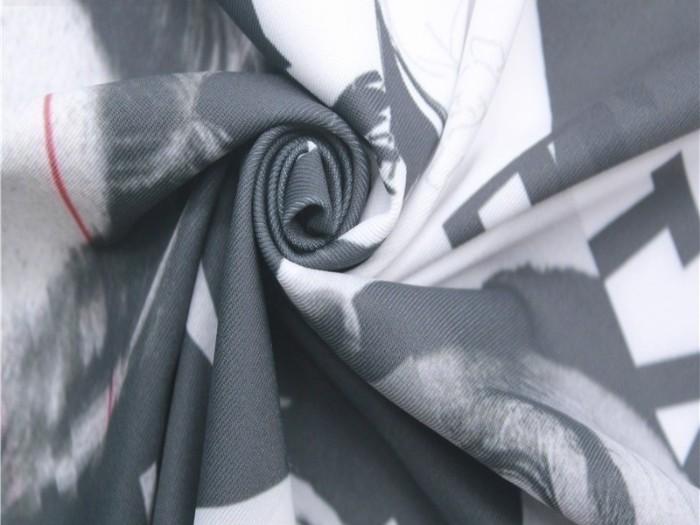 印花针织双面布