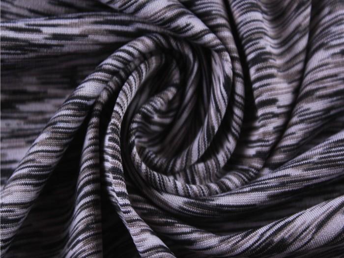 段染汗布 多色高弹氨纶汗布 瑜伽运动服针织面料